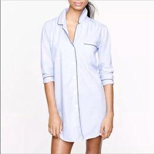Jcrew End on End blue night shirt pajama top M